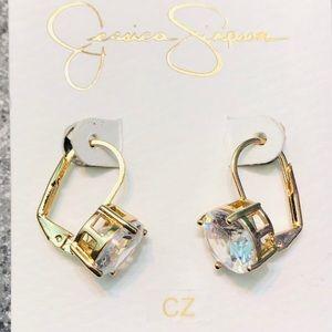 Jessica Simpson CZ earrings